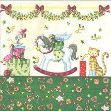 4 Serviettes en papier Jouets Noël Decoupage Paper Napkins  For a Wondrous day