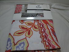 Echo New York SAO PAULO Paisley Floral Shower Curtain With 12 Curtain Hooks NEW