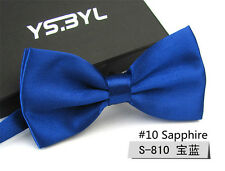 Classic Mens Blue Business Ties Adjustable Formal Work Necktie Bowtie Bow Tie