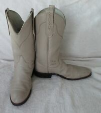 Men's Tony Lama Blk Label George Strait Bone Leather Roper Cowboys Boots Sz 5 M