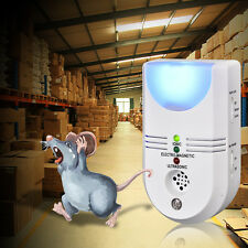 Ultrasonic Repeller Electronic Pest Repellent Rat Mice Mouse Rodent Cockroach