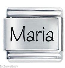 MARIA Name - Daisy Charm by JSC Fits Classic Size Italian Charms Bracelet