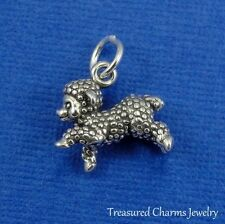 .925 Sterling Silver SHEEP CHARM Lamb Farm Animal Livestock 3D PENDANT *NEW*