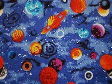 CLEARANCE FQ SPACE PLANETS SOLAR SYSTEM STARS FABRIC