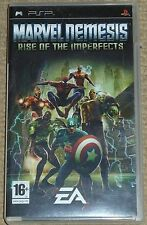 MARVEL NEMESIS RISE OF THE IMPERFECTS SONY PLAYSTATION PSP UMD Game Boxed Instru