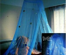 Blue Star Lace Mosquito Net Canopy Single Double King Bed Size