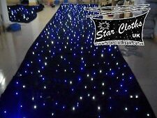 6m x 3m DMX black fabric starcloth with white & blue LEDs 6x3 LED twinkling