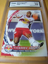 THIERRY HENRY RED BULLS 2014 TOPPS MLS # 100 GRADED 10