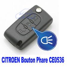COQUE CLE PLIP Citroen C1*C2*C3*C4*C5*C6*C4 Picasso Clé avec logo 3 BTN CE0536