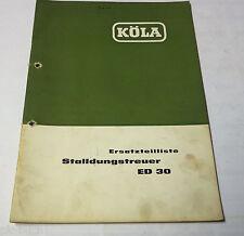 Teilekatalog Ersatzteilliste Köla Stalldungstreuer ED 30 Stand 1964