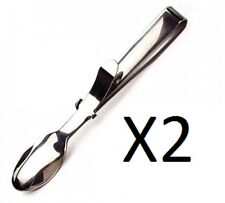 """RSVP Mini Serving Tongs Stainless Steel 4.25"""" Hors D'Oeuvres MT-DD (2-Pack)"""