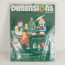 Vtg 1983 Dimensions Felt Embroidery Christmas Winter Fun Ornament Kit Sealed