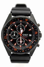 CASIO Men's AMW370B-1A1 Black Analog Multifunction Brand New w/out Tag