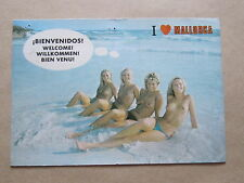 Girls on the Beach at Mallorca, Spain, Postcard, 1988