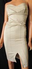 KOR KOR ABITO Tubino sexy  DRESS  TG.40 in cotone elasticizzato, colore beige