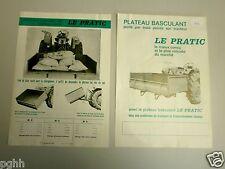 """1730-""""Le PRATIC"""" PLATEAU BASCULANT MATERIEL AGRICOLE-DEPLIANT PUBLICITAIRE"""