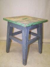 Alter Holz Hocker aus Soldatenstube, WK2, Art Deco Werkstatthocker