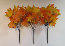 Articial Maple Leaf Spray Pack of 3 Orange & Yellow -  Autumn 30cm tall