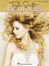 """TAYLOR SWIFT-FEARLESS"" PIANO/VOCAL/GUITAR MUSIC BOOK 13 SONGS BRAND NEW ON SALE"
