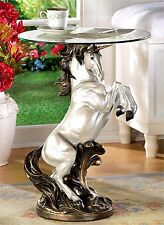 Captivating! ** SCULPTED REARING UNICORN ACCENT, END, SIDE OR NIGHT TABLE ** NIB