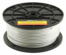Forney 70452 Wire Rope, Vinyl Coated Aircraft Cable, 250-Feet-by-1/8-Inch thru 3