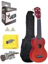 "Stagg US10 ""Tattoo"" Soprano Ukulele - Tribal Design w/Effin Clip-on Tuner + More"