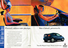 PUBLICITE ADVERTISING  1999   RENAULT  MEGANE COUPE  ( 2 pages)