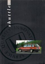 Honda Civic Shuttle 1.4 GL 1990-91 UK Market Sales Brochure
