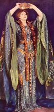 Ellen Terry as Lady Macbeth Singer Sargent 1930s mounted antique print SUPERB