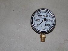"2.5"" Pressure Gauge, Glycern Filled Stainless 5000 PSI"