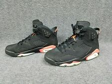 Nike Air Jordan VI 6 Retro Black Infrared 23 Size 10 384664-023 EUC