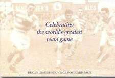 10 RUGBY LEAGUE SOUVENIR POSTCARD PACK Celebrating World's Greatest Team Game