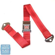 65 GM A / B & X Body Cars Deluxe Rear Chrome Buckle Red Webbing Seat Belt Each