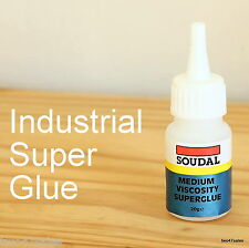 Soudal Industrial Superglue Glue Adhesive Window Door pvc Rubber Plastic fix