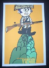 CUBA Silkscreen Poster by BACHS for Cuban Movie ELPIDIO VALDES AND THE RIFLE