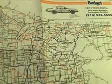 "Vintage Budget Car & Truck Rental MAP of LOS ANGELES - 17 1/2"" x 11 1/2"""