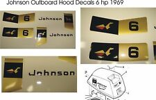 1969 Johnson Outboard Hood Decals 6 or 4 hp