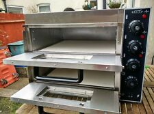 """Commercial Electric Double Deck Stone pizza oven catering equipment."""" Brand New"""