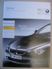 Prospekt +CD First Views INTERN BMW 6er E63 Coupé 645 Ci Argumenter 2003 2004 D