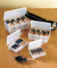 Set of 4 Battery Storage Boxes AAA AA C D Batteries Box Cases Holder