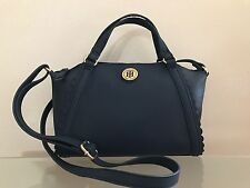 Tommy Hilfiger Faux Saffiano Leather Satchel Crossbody Handbag NWT $79