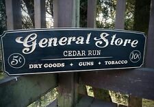 General Store  Personalized - Rustic Carved Wood sign. Man cave, Bar, wedding