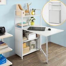 SoBuy® Wandklapptisch,Bücherschrank mit klappbarem Schreibtisch,FWT12-W