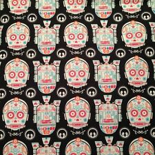 Star Wars R2D2 and C3PO Sugar Skulls Cotton Fabric ~ 44 x 17 remnant