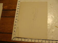 """1930's E. Ganson Drawing 9 1/2 x 12 1/2"""" nude female sketch back side standing"""