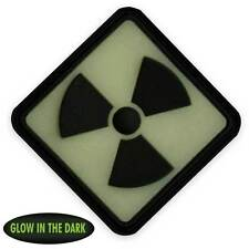 NEW 3D PVC Radioactive Tactical Biker Morale Patch Black Back Glow in the Dark