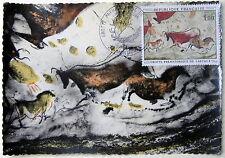 CARTE POSTALE PREMIER JOUR Y&T N°1555 GROTTE DE LASCAUX - MONTIGNAC 13 juin 1968