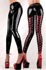 7961 Latex Gummi Rubber Legging tight pants trousers lace up customized 0.4mm
