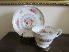 SHELLEY Bone China England Crochet Tea Cup And Saucer Flowers