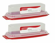 Rubbermaid Servin' Saver Butter Dish Set Of 2, Standard Butter Dish - NEW